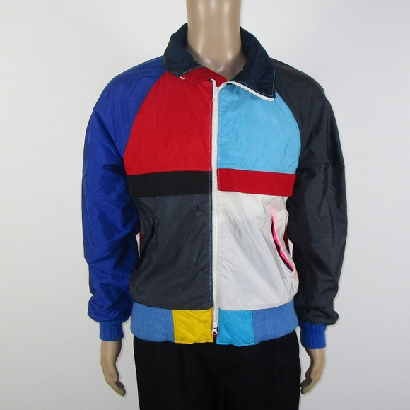 f8373f7f5 VTG 80s Head Sportswear Colorblock Jacket Sz L